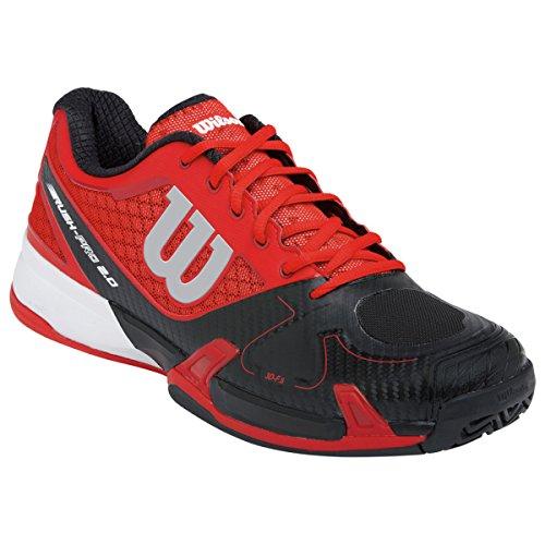 Wilson  Rush Pro,  Unisex-Erwachsene Tennisschuhe , Mehrfarbig (Rot/Schwarz) - Größe: 41