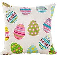 friendGG Easter Soft Cute Cartoon Animal Egg Print Square Pillowcase - Waist Cushion Cover -Home Decor Pillow - 43x 43 Cm