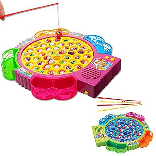 Itian 42 Stücke Fisch Spielzeug Elektrofischerei Musikspiel für Kinder Früherziehung