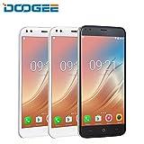 Smartphones SIM gratuite pas cher Doogee x30téléphone mobile appareil photo de quatre cœurs 2x 8.0MP + 2.55.0MP Android 7.03360mAh 5.5pouces HD MTK6580A quatre cœurs 2Go mémoire 16Go ROM, noir