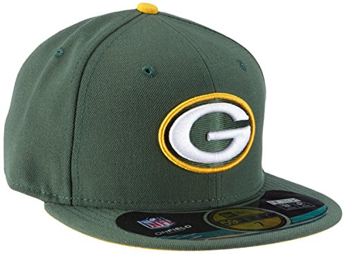 New Era 59Fifty Green Bay Packers Kappe Herren, Grün, 8 (Mütze Packers Green Bay Xxl)