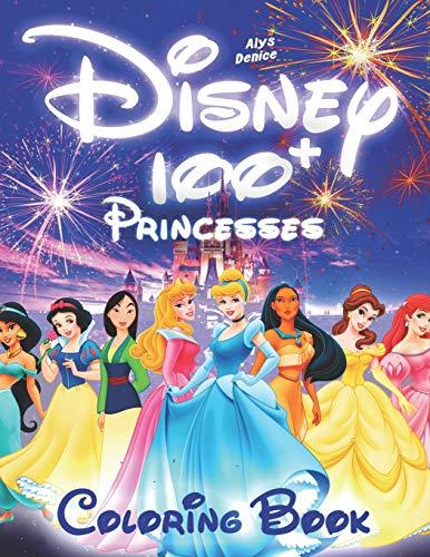 100+ Disney Princesses Coloring Book: Princesses Coloring Book, Coloring Book for Girls, Disney Coloring Book (103 Illustrations)