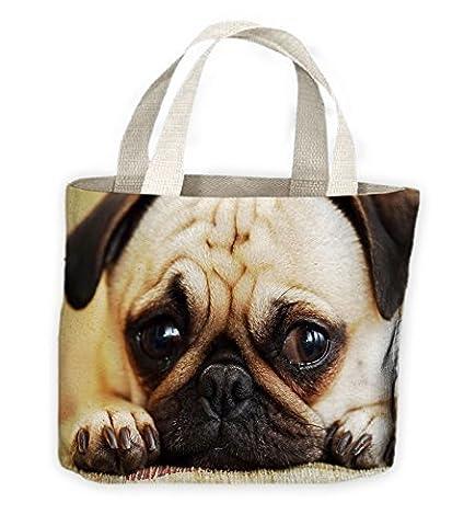 Chien Carlin Visage Fourre-tout Shopping Sac Pour Vie