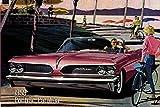 Pontiac Catalina 1959 Auto reklame schild aus blech, us, pink, cabriolet