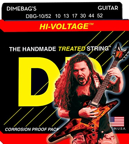 DR Dimebag Darrell Signature Hi-Voltage Electric Guitar Strings10-52 (Dimebag Gitarre)