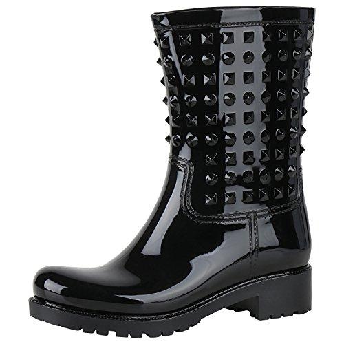 napoli-fashion - Botas de agua Mujer , color negro, talla 39