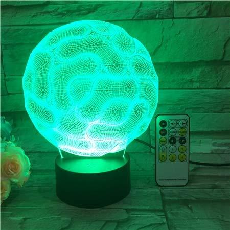 Abstrakt Gehirn Nachtlicht 3D USB Touch-Schalter & Fernbedienung Acryl gravieren 7 Farbverlauf Atmosphäre Tischlampe