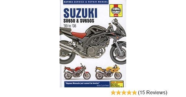 suzuki sv650 and sv650s service and repair manual 1999 to 2008 rh amazon co uk suzuki sv 650 workshop manual suzuki sv650 s 1999 service manual