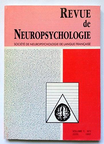 Revue de Neuropsychologie - Volume 7 - numéro 3 - septembre 1997