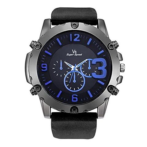 Herren Uhren, ihee New Fashion V8Herren Dünn Silica Gel Studenten Sport Quarz-Armbanduhr Casual Silikon Armband Quarz Armbanduhr M M