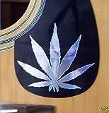 Gitarre Plektrum Guard Aufkleber Marijuana Leaf Vinyl Aufkleber