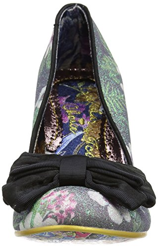 Irregular Choice Ban Joe, Escarpins femme Black (Black Floral)