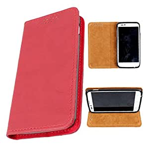 i-KitPit PU Leather Flip Case For Micromax Bolt A51 (RED)