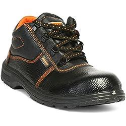 Hillson Beston Safety Shoe (Size-8 UK, Black)