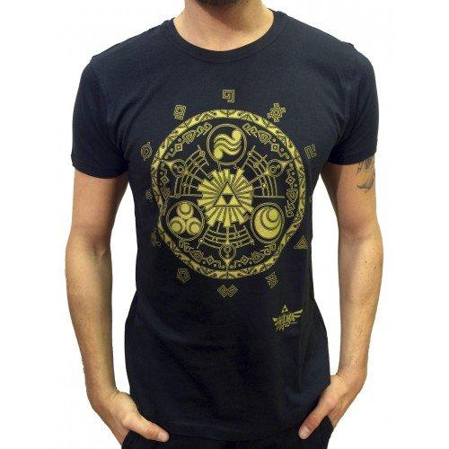 The Legend of Zelda T-Shirt Golden Map Size XL Bioworld