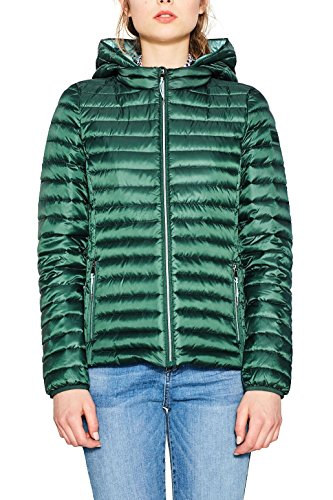 ESPRIT Damen Jacke 077EE1G006 Grün (Bottle Green 385) X-Small