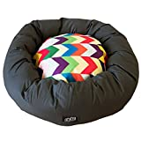 Raised by Humans - Metric Doughnut Dog Bed (Small 60cm Diameter)