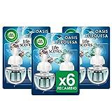 Air Wick Ambientador eléctrico para el hogar, recambio fragancia Oasis Turquesa, pack de 6
