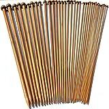 Elviray 36Pcs / Set Bamboo Carbonizzato Crochet 2-10mm Single Pointed Smooth Knitting Needles per Sciarpa Maglione Strumenti di Lavoro a Maglia