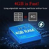 Android 9.0 TV Box, Q Plus Smart Android Box con Allwinner H6 Quad-Core 64 bit Arm Corter-A53 CPU 4 GB RAM 32 GB di RAM Mali T720 GPU supporta 4K 6K Risoluzione 2.4GHz WiFi 100M LAN Enternet