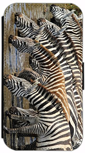 Flip Cover für Apple iPhone 6 / 6S (4,7 Zoll) Design 696 Giraffe Giraffen Hülle aus Kunst-Leder Handytasche Etui Schutzhülle Case Wallet Buchflip mit Bild (696) 695