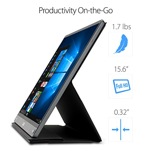 ASUS ZenScreen MB16AC 156 Inch USB Type C IPS FHD 1920 x 1080 mobile Monitor Black Products