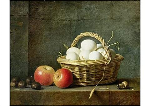 Fine Art Print of The Basket of Eggs, 1788 (oil on canvas)