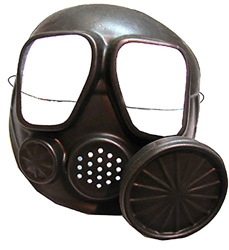 Cop Gefängnis Und Kostüm - erdbeer-clown - Kostüm Accessoire Atemschutzmaske- Millitär- Chemiker- Army Maske, Schwarz