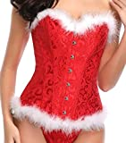 Miss Moly Weihnachten Kostüm Korsett Corsage Sexy Lace p Dessous Damen Vollbrust Vintage Korsage 2.5cm Reduktion Waist Shaping Mieder Kleidung