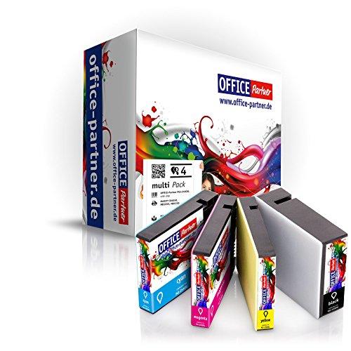 Office-partner Premium cartucce compatibili con Canon PGI-1500X L con Chip per Canon maxify iB4050MB5050MB5350 (A) 4 Stück (alle Farben)
