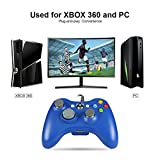 Wetoph Xbox 360 Wired Controller, GD03 USB Wired Gamepad Joystick Compatible with Xbox 360 and PC(Windows XP/7/8/10)-Blue
