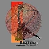 Feeling-at-home-Kunstdruck-Basketball-cm55x55-Poster-fuer-Rahmen