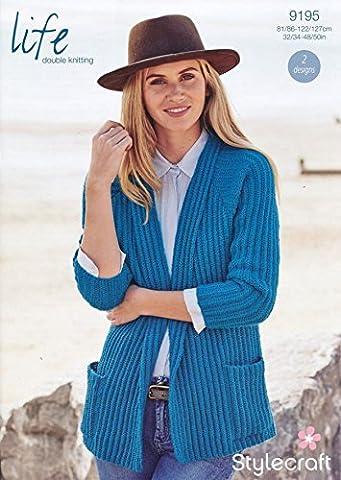 Stylecraft Ladies Cardigans Life Knitting Pattern 9195 DK
