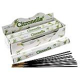 Stamford, Citronella Incenso 20 Bastoncini in 6 Confezioni
