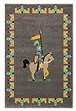 Kinderteppich- Der Ritter 80 x150/ 120 x170 cm Teppich spielzimmer, Kinderzimmer, Spielteppich, Größe Teppiche:170 x 120 cm