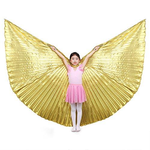 Dance Fairy Kinder Bauchtanz Isis Flügel ,Gold (mit Stöcken)
