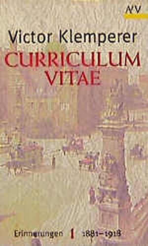 Buchseite und Rezensionen zu 'Curriculum vitae: Erinnerungen 1881-1918. 2 Bände' von Victor Klemperer
