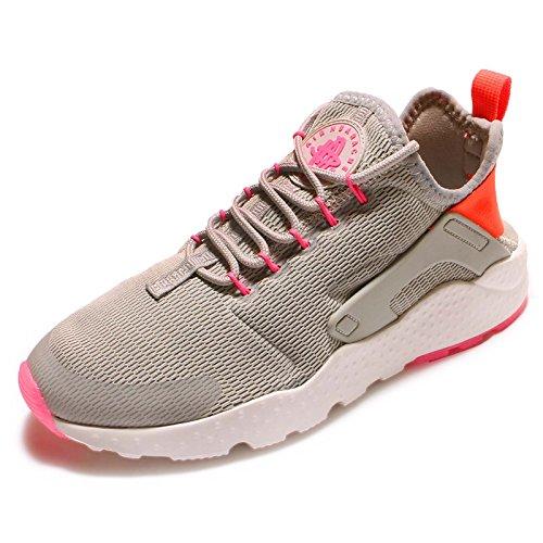 Nike W Air Huarache Run Ultra, Chaussures de Sport Femme gris - Gris (Lt Iron Ore / Ttl Crmsn-Pnk Blst)