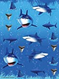 Sticker * HAIE & SHARKS * // Aufkleber Bilder Kinder Kindergeburtstag Geburtstag Mitgebsel Geschenk Basteln Hai Haifisch Fische