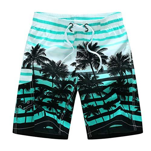 Herren Sommer Strand Shorts Einstellbare Kordelzug Elastische Taille Multi-Style Print Lässige schnell trocknende Shorts