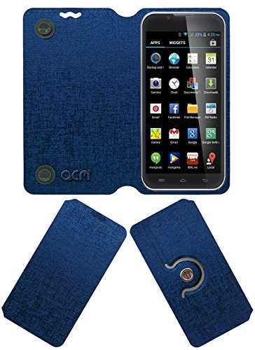 Acm Designer Rotating Flip Flap Case for Iball Andi 5-E7 Mobile Stand Cover Blue  available at amazon for Rs.399