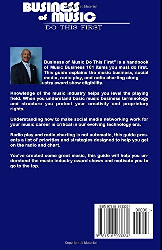 Business of Music: Do This First