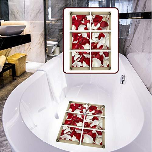 HOUCONG Anti Slip wasserdichte PVC Badewanne Aufkleber Dekor Abziehbilder Muti-Wählen Badezimmer Aufkleber Wandaufkleber 3D (Badewanne Abziehbilder)