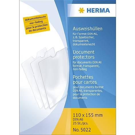 Herma-Steck-Hülle A6 Transparent 110X155Mm Liefermenge = 25