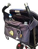 My Elephant Organizer per passeggino/carrozzina, con borsetta removibile e capiente contenitore a borsa immagine