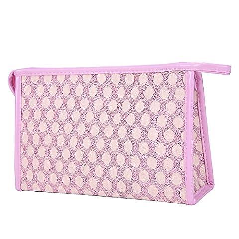 Butterm filles de la mode Maquillage Cave Voyage Case Holder Mesh PVC Composite Cosmetic sac de rangement sac à main d'embrayage sac à main Lady sac à main Casual