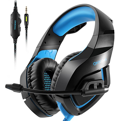 ONIKUMA PS4 Gaming Headset über Ohr Stereo Gaming Kopfhörer mit Noise Cancelling Mic für Nintendo Switch PS4 Xbox One PC Laptop Smartphones (Der Verwendet Xbox)