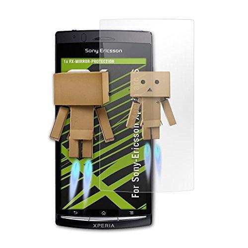 atFolix Displayfolie kompatibel mit Sony-Ericsson Xperia arc S Spiegelfolie, Spiegeleffekt FX Schutzfolie