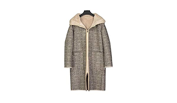 Rinoamp; Farbe Checked CheckedGröße Ova Damen Mantel Pelle bf6g7yvY