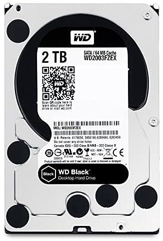 WD Black Disque dur interne (Bulk) Desktop Performance 2 To 3,5 pouces SATA 7200 RPM